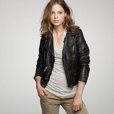 I want a leather jacket