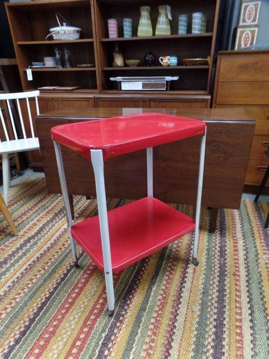 Vintage Red And Whited Metal Costco Cart Vintage Furniture Vintage Furniture