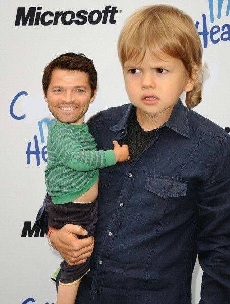 This scares me  Misha and his son west face swap | Misha Collins