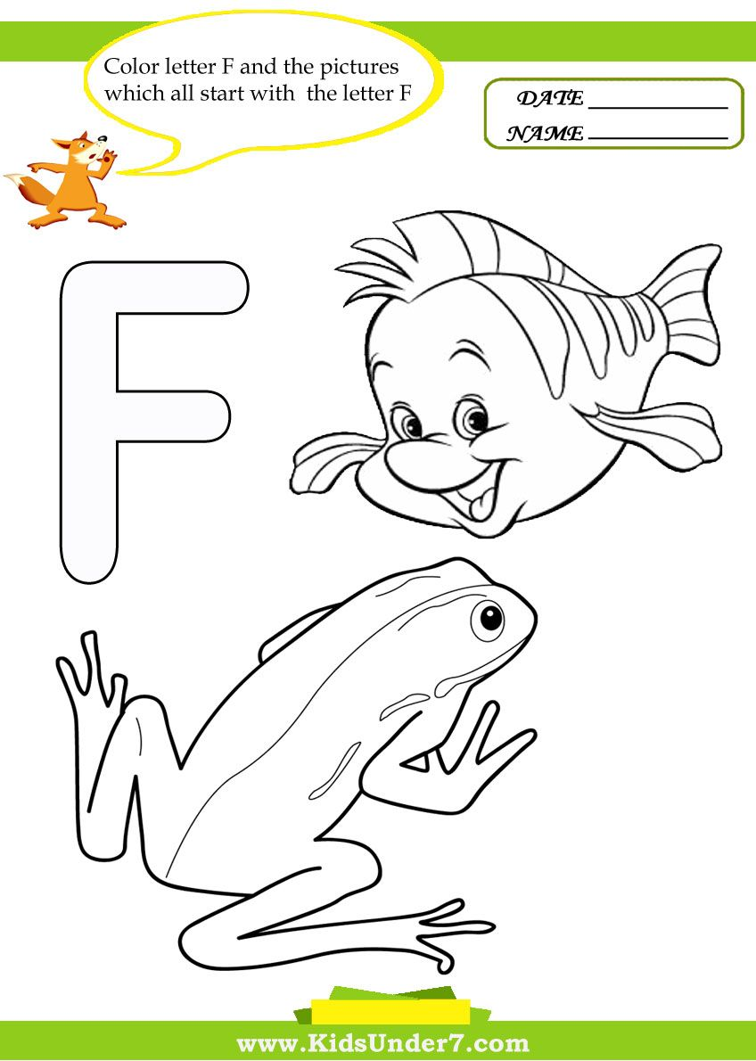 Letter F Worksheets And Coloring Pages Letter F Alphabet