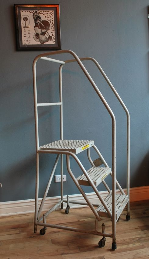 Industrial Rolling Step Ladder Would Like One With