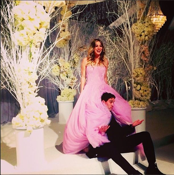 Kaley Cuoco Weds in Pink Vera Wang Gown [PHOTOS