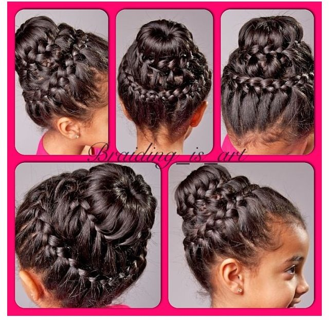 Double Crown Braid With A Donut Bun I Have Tutorial For