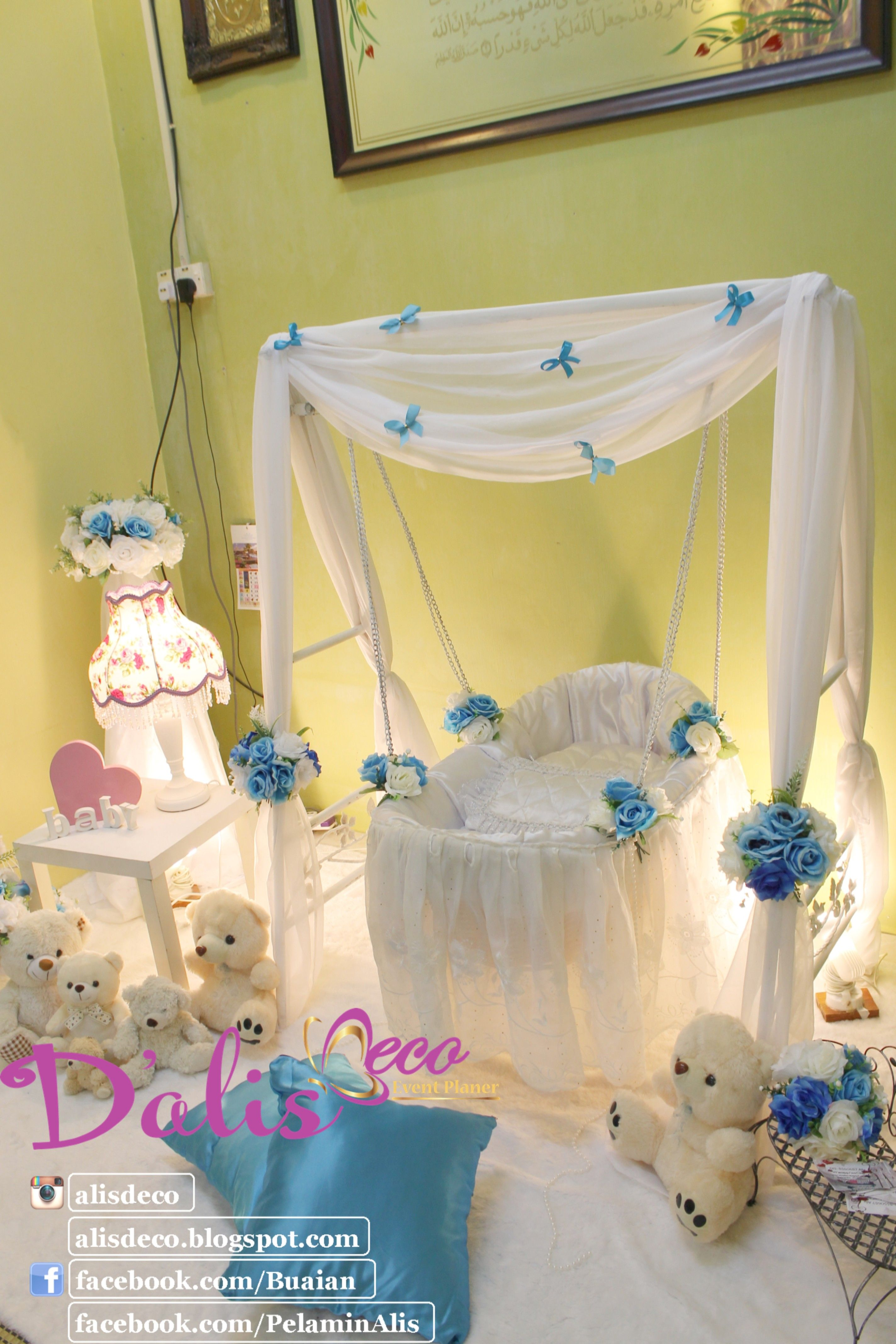 Simple And Sweet Decoration Baby Cradle For Naming