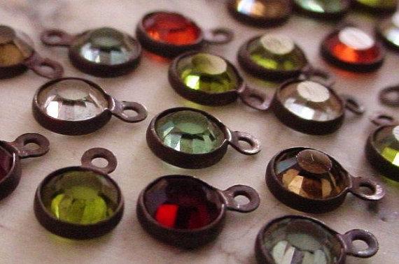 38900fcb LOT Tiny 4mm Swarovski Crystal Channel Vintage Mini Drop Earring ...