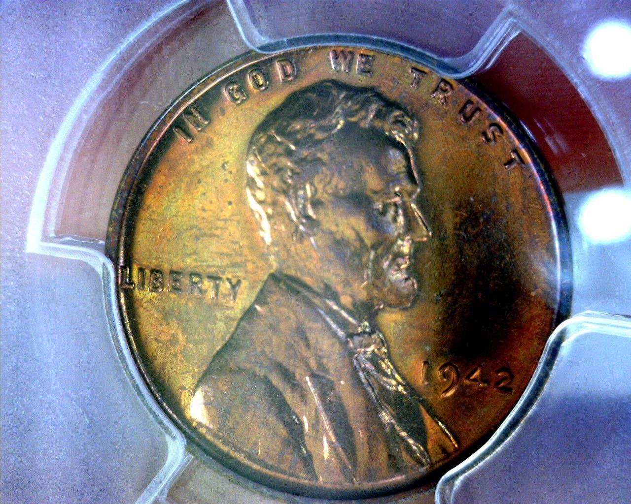Beautiful pcgs 1942 pr64rb lincoln wheat penny pr 64 rb