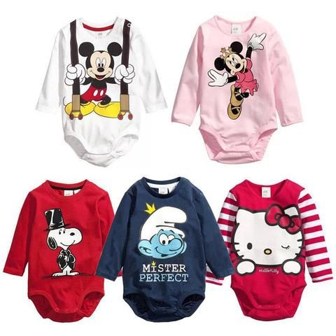 3ff5f579b Cartoon Baby Boy Rompers Cotton Baby Girl Clothes Clearance Sale ...