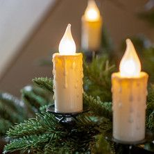 30 Jumbo Christmas Candle Lights With Clips By Lumineo Leds