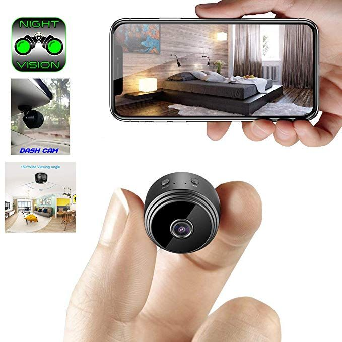584b0c9cbf87 Mini Spy Camera WiFi Hidden Camera ClickCam Wireless HD 1080P Indoor Home Small  Spy Cam Security Camera Nanny Cam Built-in Battery with Motion ...
