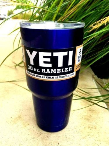 Yeti 30 Oz Rambler Mug Royal Blue Unique Gift Idea Yeti Rambler