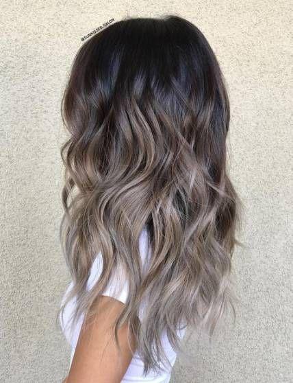 54 Trendy Hair Ombre Ash Grey Hair Greyhair In 2020 Ash Hair Color Ash Brown Hair Color Brown Ombre Hair