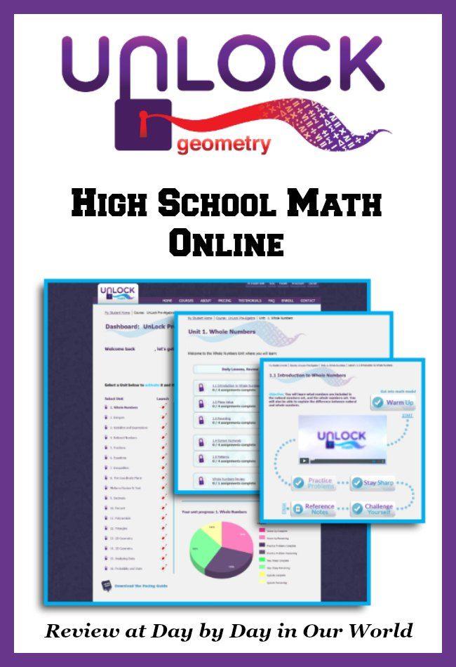 UnLock Math Geometry: Bringing High School Math Online | Maths, High ...