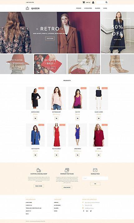 Queen fashion store responsive motocms ecommerce template queen fashion store responsive motocms ecommerce template maxwellsz