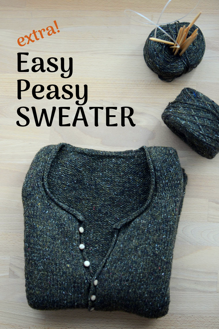 Simple quick easy knit pullover sweater for your daily comfort