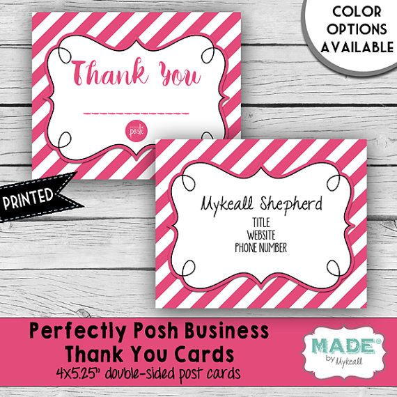 Personalized Perfectly Posh Inspired BUSINESS THANK YOU Note Card - business thank you note