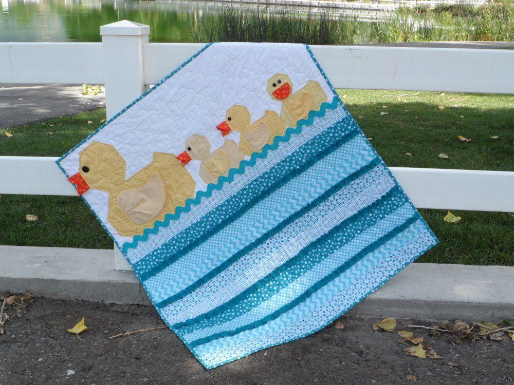 baby boy quilt patterns   The darling new Lucky Ducks quilt ... : baby boy quilt kits - Adamdwight.com