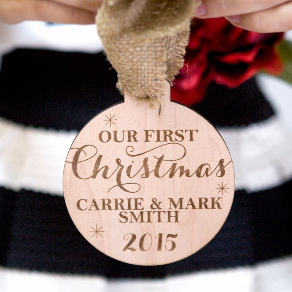 Personalized couples christmas ornaments - Personalized Couple S First Christmas Ornament