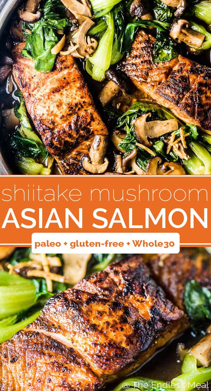 Shiitake Asian Salmon with Bok Choy images