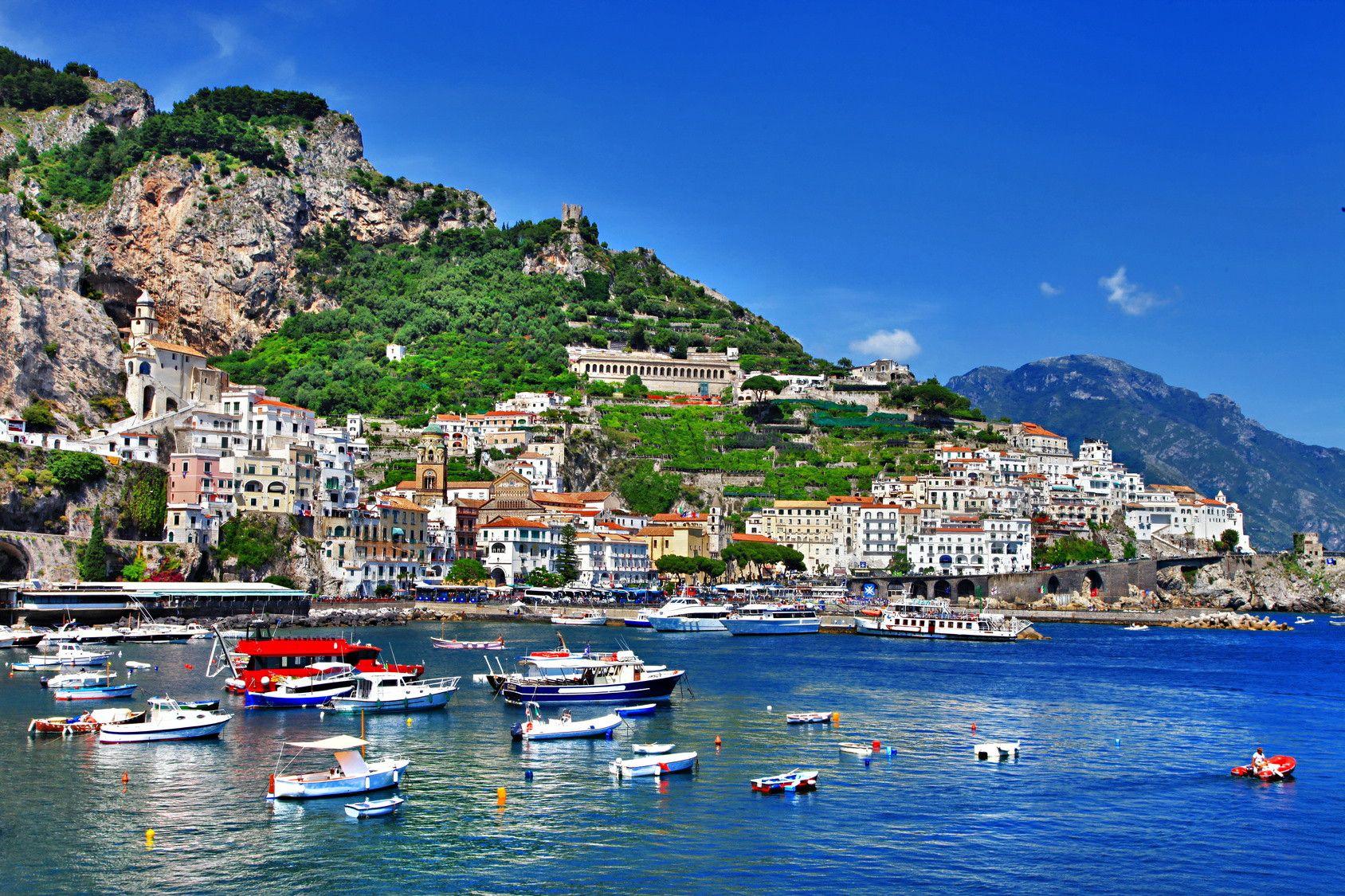 Cote D Azur Kuste Von Amalfi Amalfikuste Italien Positano Italien