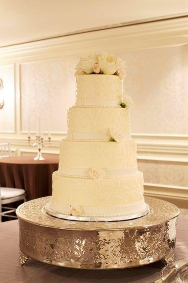 Wedding cake at the historic Madison hotel in Washington DC.