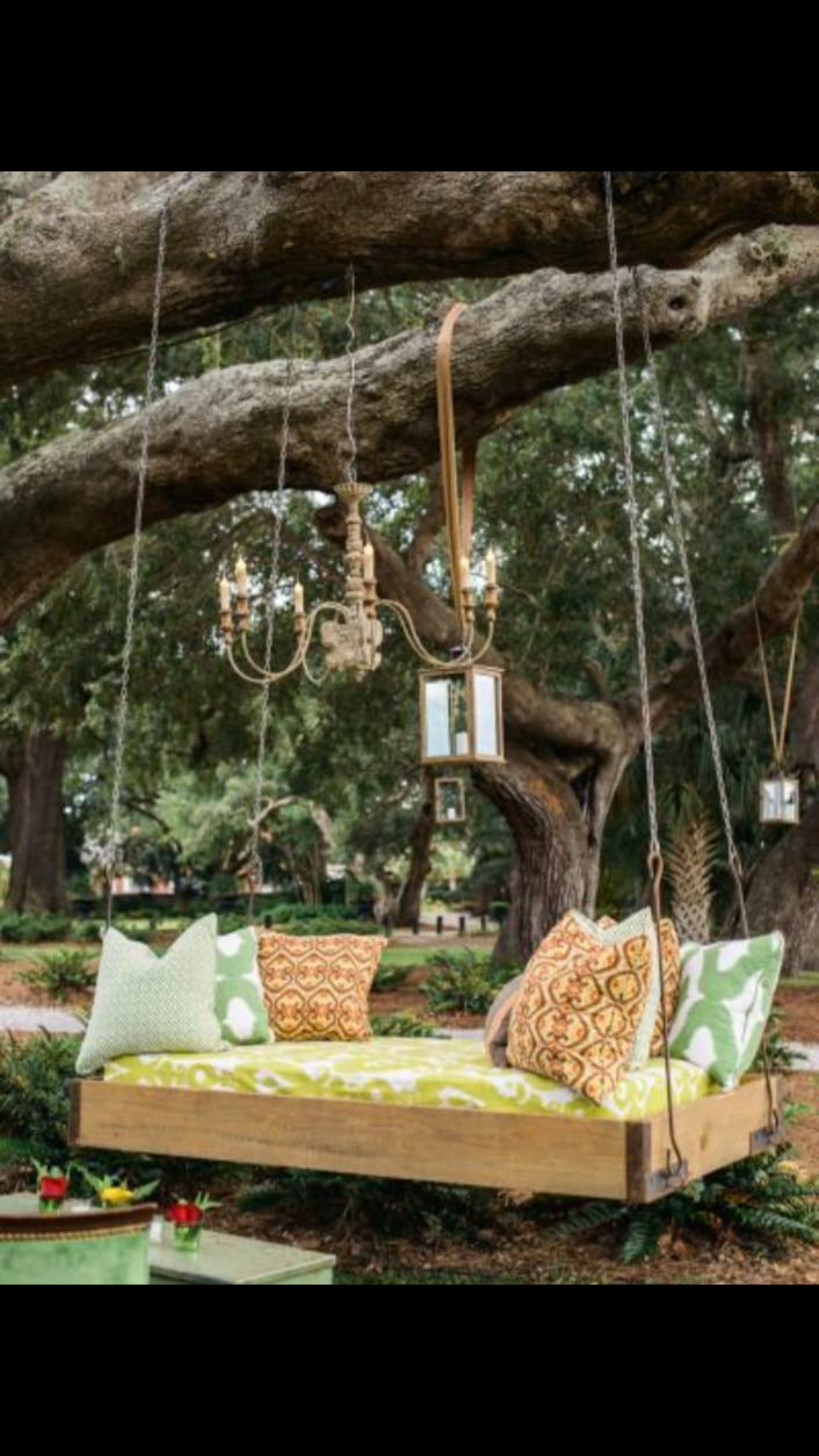 Gorgeous garden swing ♥✿༺ Garden of Eden ༺✿♥