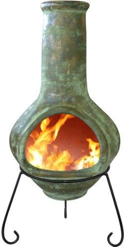 Tibor Mexican Chiminea Green Jumbo Chimineashop Co Uk Chiminea Clay Chiminea Fire Pit Backyard