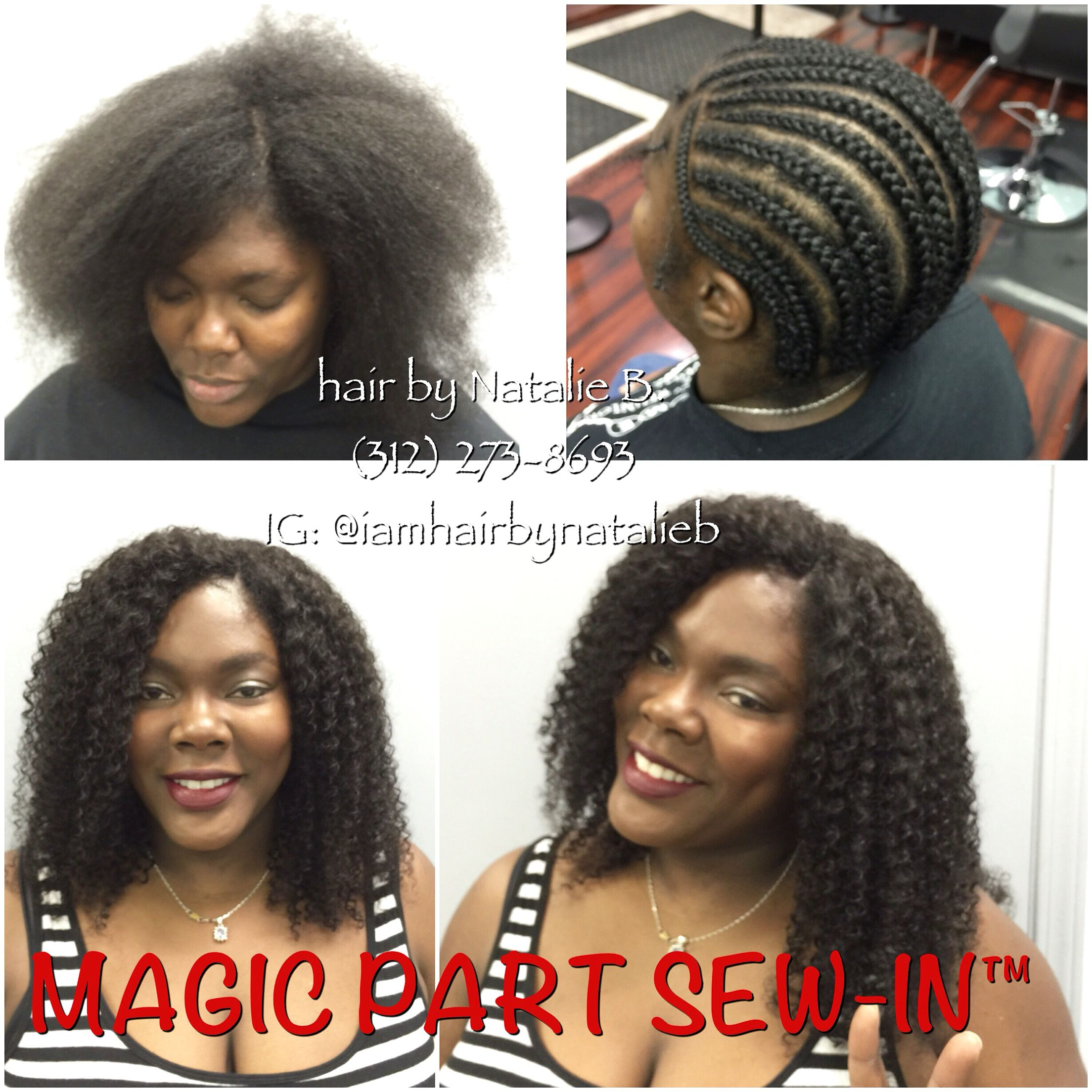 Best Protective Style Ever Introducing The Magic Part Sew In No