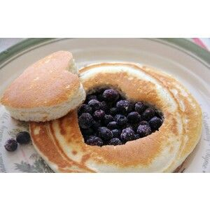 Pancake with blueberry (ideal sweet breakfast)
