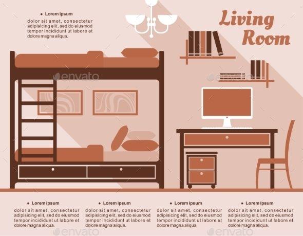 Living Room Interior Decor Infographic