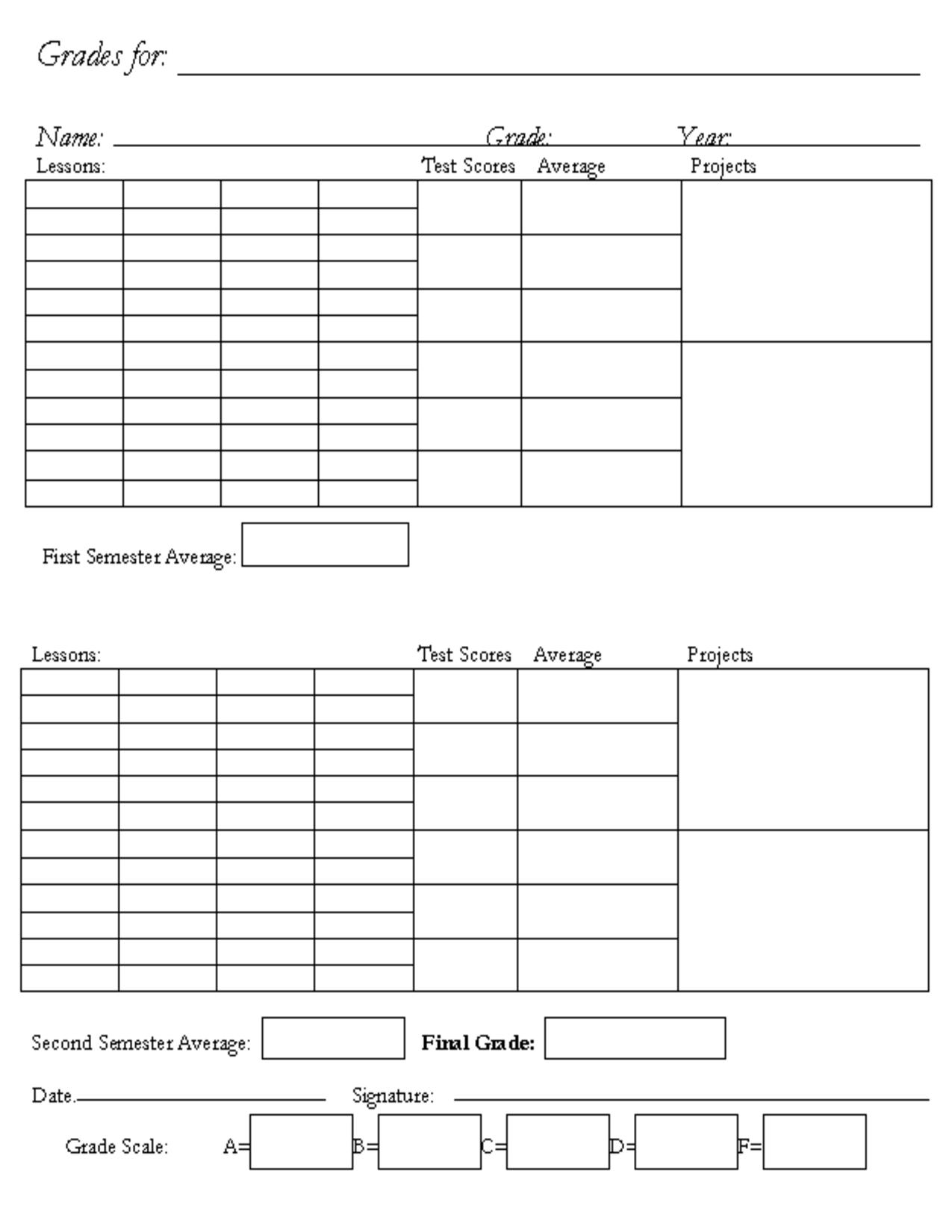 Printable Homeschool Report Card Template Quotes L5tfkl1l