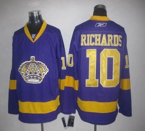 Kings  10 Mike Richards Purple Embroidered NHL Jersey  Emillia Kelly ... b4581df35