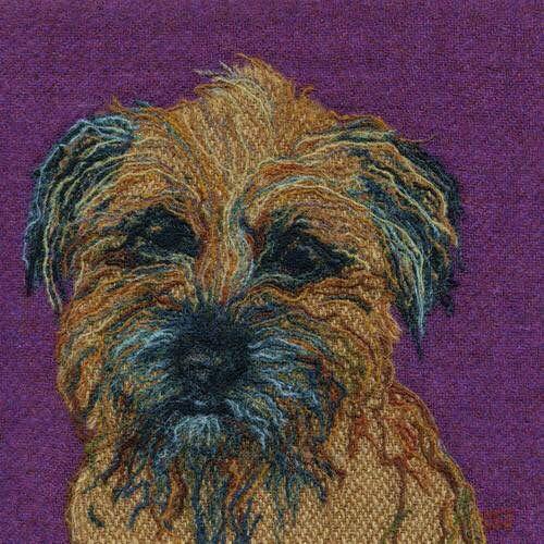 Border Terrier using Harris tweed and wool ... Bright Seed Textiles