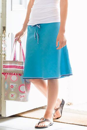sew drawstring skirt, from Sewing Made Simple book http://www ...
