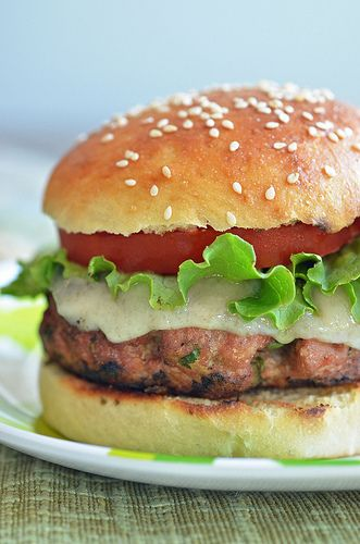 Havarti and Almond Turkey Burgers