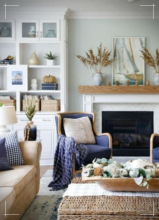 40 Inspiring Fall Decor Ideas For Your Living Room Design #coastallivingrooms
