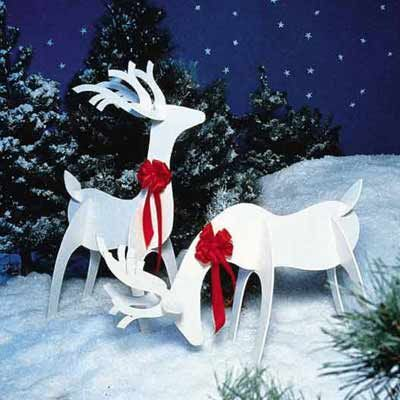 Holiday Woodworking Plans for Fun Yard Decor | Reindeer, Woodworking plans and Wooden sheds