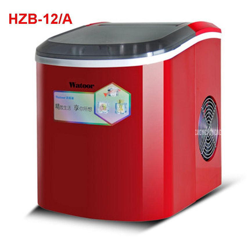 Hzb 12 A 220 V 50 Hz Ice Machine Commercial Milk Tea Shop Home Small Automatic Ice Machine Large Capacity 15kg 24 Ice Machine Ice Maker Machine Ice Cube Maker
