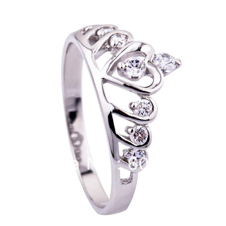 3b0d0e9f6af8 Envío gratis-- venta al por mayor y al por menor para 100% 0.925 completo  de plata esterlina del anillo de la corona