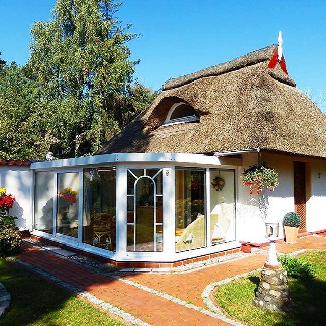 Tolles Haus mit Reetdach und Wintergarten in Dierhagen ️⚓️