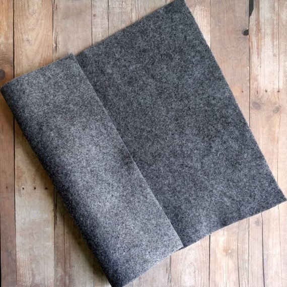 Smoke Gray Acrylic Felt Sheets Or Circles High Quality Made In Usa Grey Felt 5 9x12 Sheets Or 30 Pack Of 1 Inch Circles Quick Ship Felt Sheets Felt How To Make