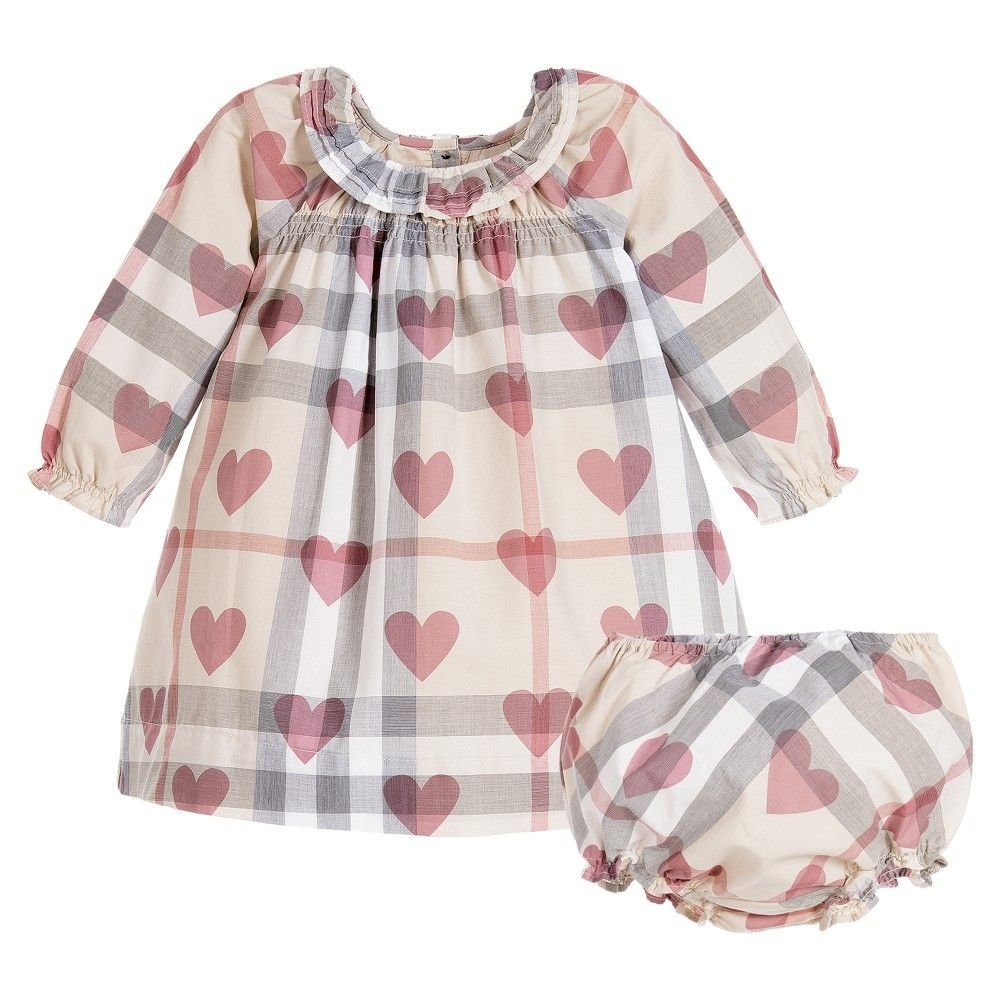 d9d3680ed152 Burberry - Baby Girls Check   Hearts Dress