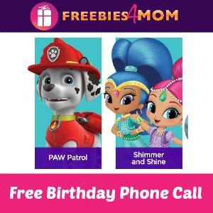 Free birthday phone call from nick jr characters free birthday free birthday phone call from nick jr characters filmwisefo Images