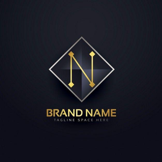 Lade Der Buchstabe N Logo Vorlage Kostenlos Herunter