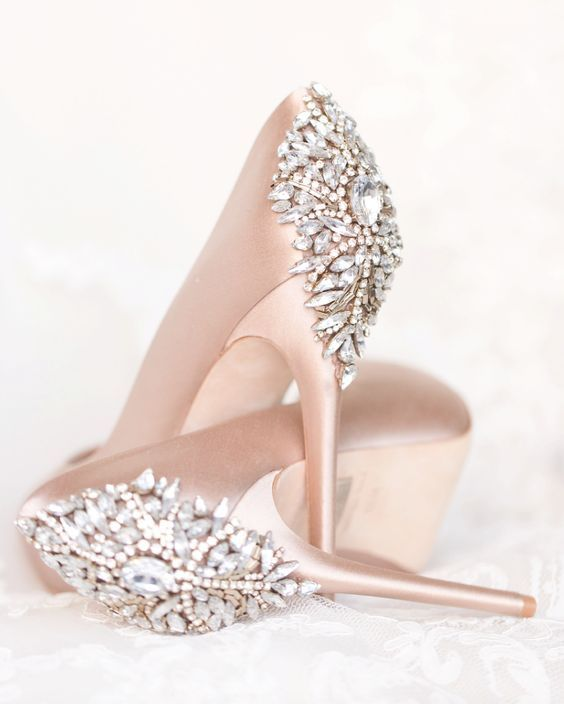 Jewel Embellished Wedding Shoes Blush Wedding Shoes Blush Pink