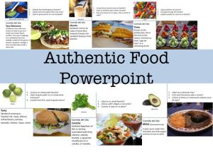 Comida Autentica Powerpoint