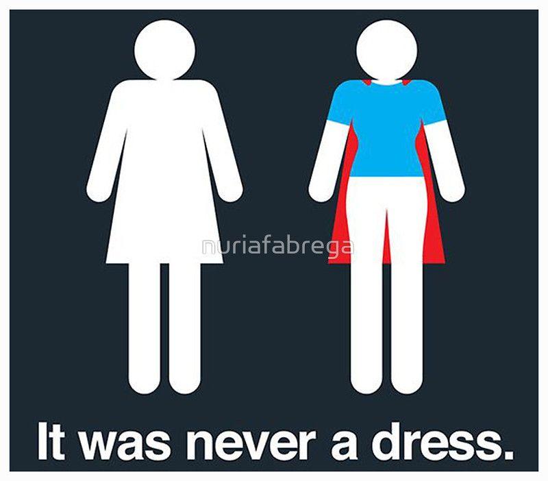 It was never a dress Sticker
