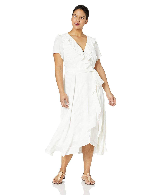 Gabby Skye Women/'s Short Sleeve Striped Shift Dress Wear to Work Dress
