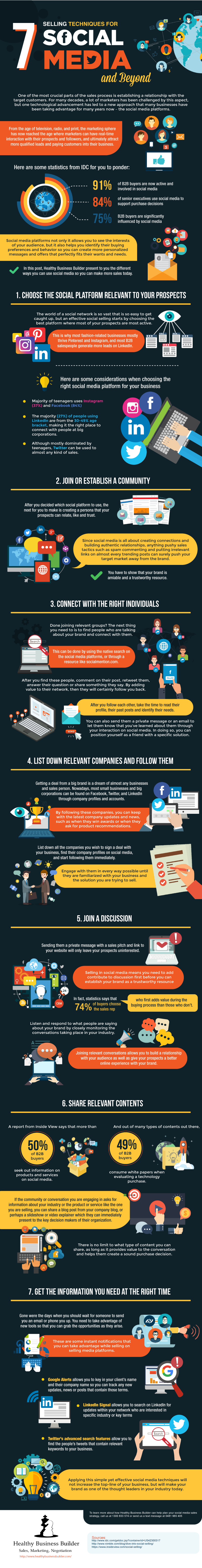 7 Selling Techniques for Social Media and Beyond (Infographic)