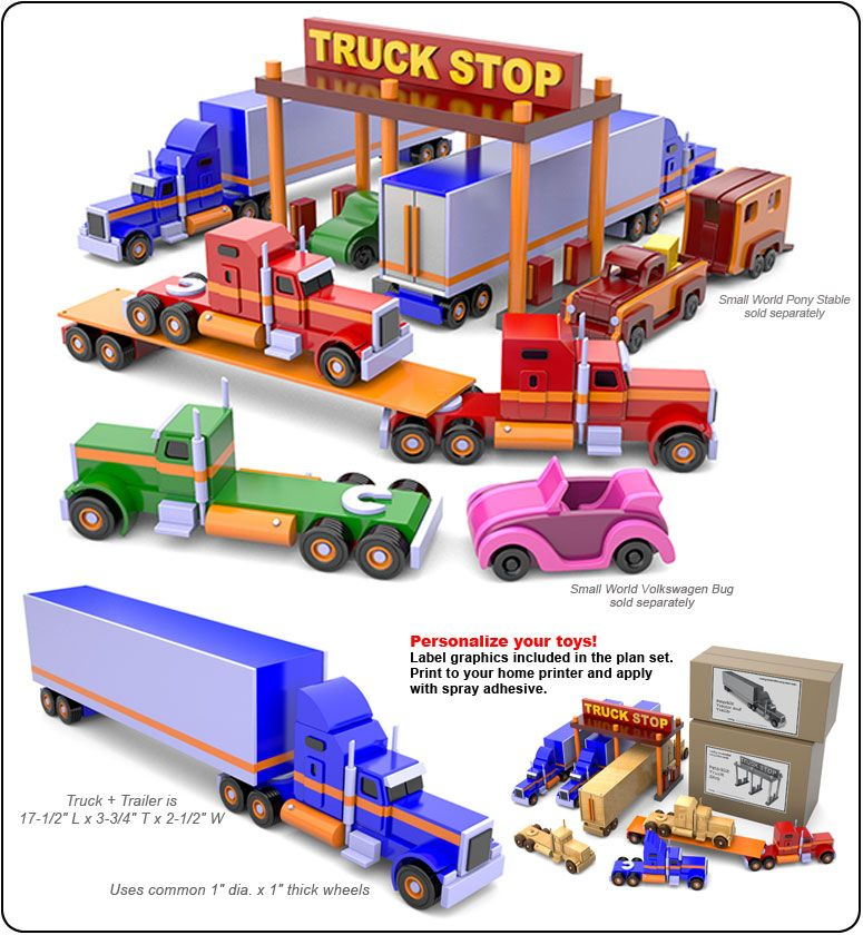 Small World Peterbilt Truck Stop Wood Toy Plans Pdf Download