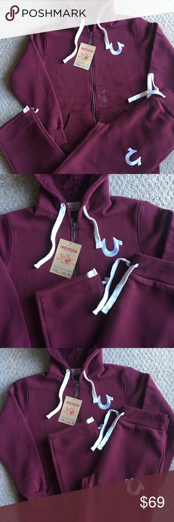 c848b155fc4b New Menu0026 39 s True Religion Zip Hoodie Sweatpants Set